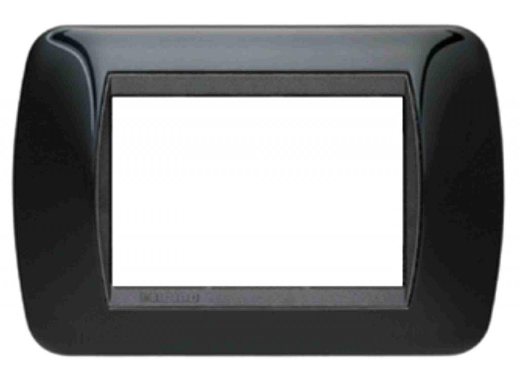 Placche compatibili living international light nere 3 4 7 posti pianeta lowcost - Placche living international ...