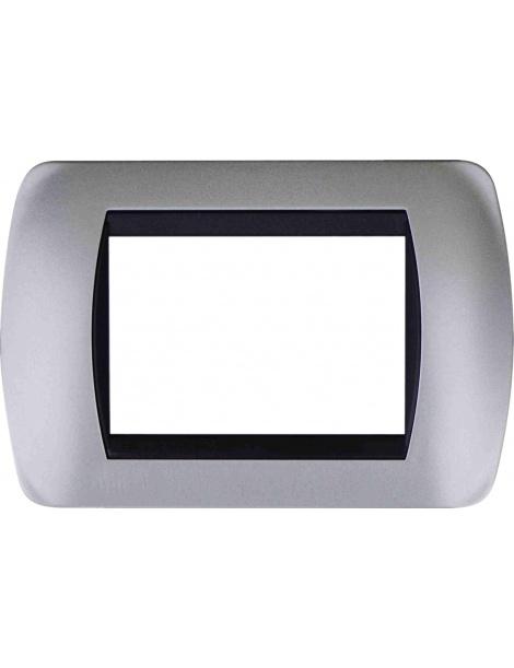 Placche argento satinato compatibili Living Inter Light 3 4 7 posti e supporti