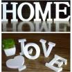 Lettere di legno bianco adesive