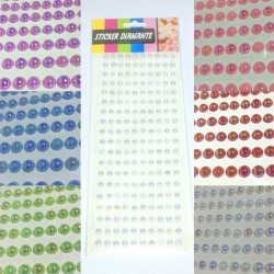 Adesivi mezze perle strass 6mm stickers brillantini