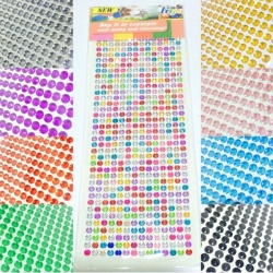 Sticker Adesivi strass taglio diamante 4 mm