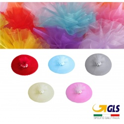 50 veli per confetti bomboniere vari colori