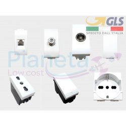Interruttori pulsanti compatibili Bticino Living Light Bianco