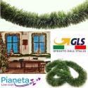 Ghirlanda filo verde 2,70 m festone di natale folto realistico alta qualità