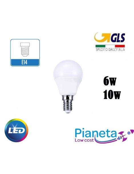 Lampadine Led attacco E14 Mini Globo oliva e fiamma 6 e 10 Watt Luce Fredda