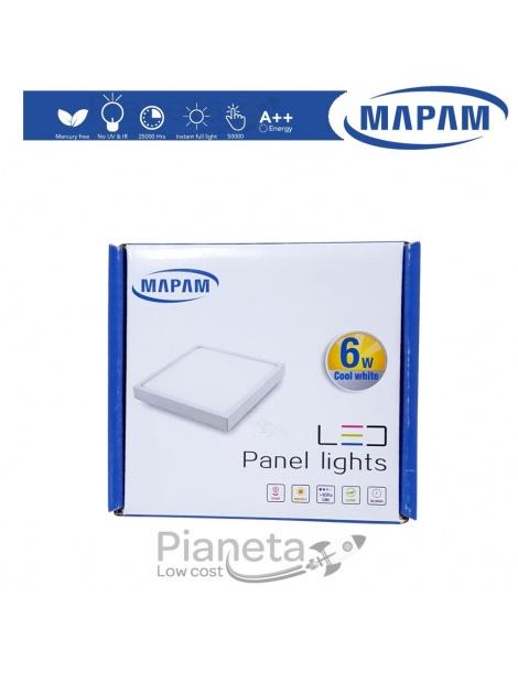 Pannello LED Quadrato a Muro 6/12/18W Luce Calda/Fredda/Naturale Faretto Mapam