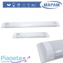 Neon LED Plafoniera 24/50W 60/120cm Luce Calda/Fredda/Naturale Applique Mapam