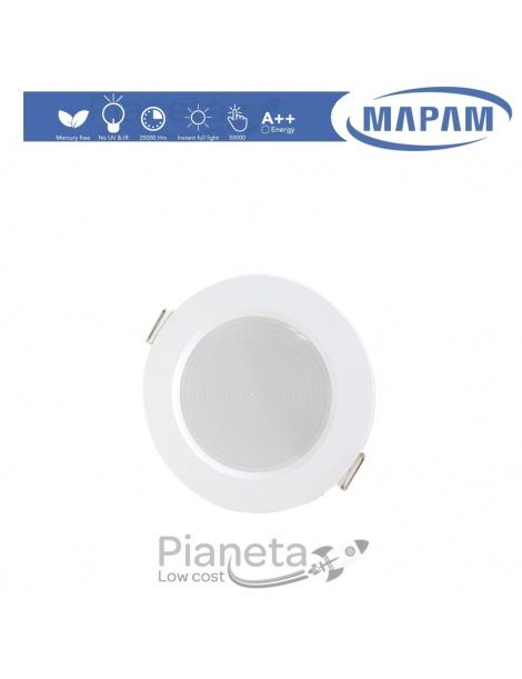 Faretto led 7/15/24w da incasso 220V faro tondo bianco opaco per cartongesso luce fredda naturale calda Mapam