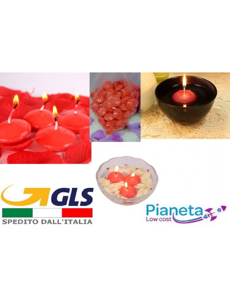 6 Candele galleggianti rosse