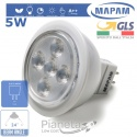 Faretto LED 5W MR16 GU5.3 Incasso Luce Fredda Calda Mapam