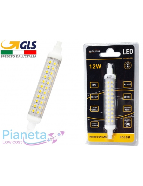 Lampadina R7S LED 12Watt 118mm Slim Luce Fredda
