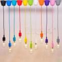 Porta lampada in vari colori e27 filo pendente