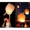 10 Lanterne Volanti Cinesi Mini Mongolfiere Bianco e Colori Misti