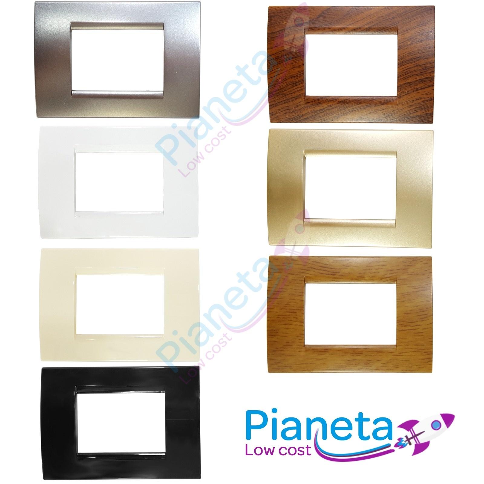 PLACCA PLACCHETTA BTICINO COMPATIBILE LIVING TONDA 3 4 7 MODULI VARI MODELLI COL