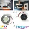 Faretto LED da incasso Cappa da Cucina circolare 3 Watt Risparmio Energetico Satinato
