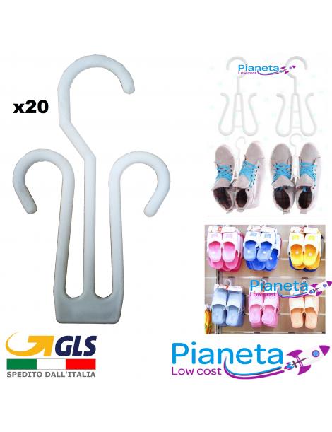 x20 Grucce per Sandalo Scarpe Pantofole Accessori bianco per esposizione negozio