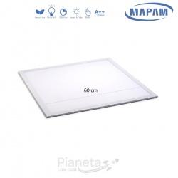 Pannello led quadrato 45W 60x60 da incasso lampada soffitto bianco slim luce calda 3000k Mapam