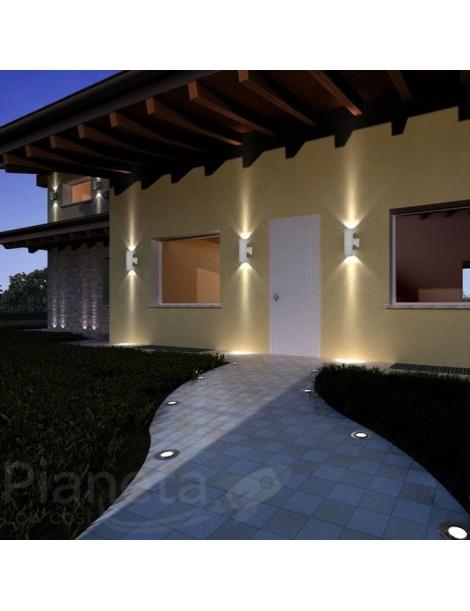 Applique da esterno ip55 muro doppia illuminazione for Illuminazione da giardino a led