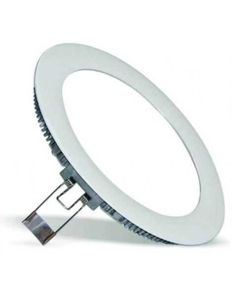 Pannello rotondo slim led 6w ip20 incasso Faro faretto completo driver luce bianca fredda naturale calda Downlight
