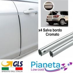 X4 Salva bordo porta Auto anti urto Protezione portiera Sportello Cromato