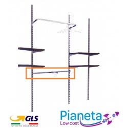 Barre rettangolari 120cm appenderia montante struttura arredo negozio in acciaio
