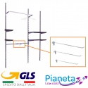 x10 ganci barre rettangolare da 35 30 25 20 cm arredamento negozio