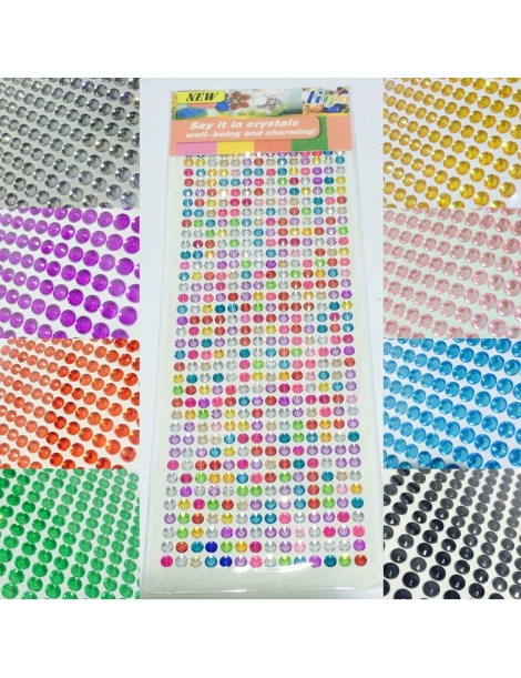 Sticker Adesivi strass taglio diamante 3-4-6-8 mm