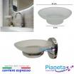 Porta sapone piatto ricambio accessori arredo bagno acciaio vetro Ottima qualità