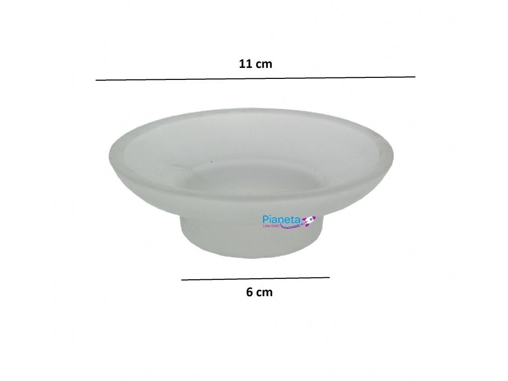 Accessori Bagno Low Cost.Porta Sapone Piatto Ricambio Accessori Arredo Bagno Acciaio Vetro
