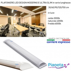 Neon barra luce fredda calda naturale led applique plafoniera soffitto parete