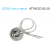 Porta Faretto Incasso Vetro Lampadine led GU10 MR16 controsoffitto
