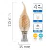 Lampadina e14 led filamento lampada vintage oliva fiamma codino tortiglione globo sfera