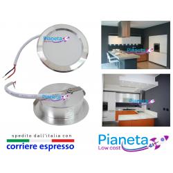 Faretto LED opaco Cappa Cucina incasso circolare 3 Watt Risparmio Energetico