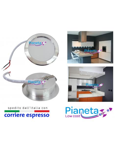 Faretto LED satinato Cappa Cucina incasso circolare 5Watt Risparmio Energetico
