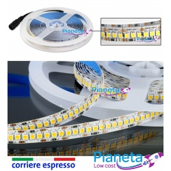 Striscia Led 5 mt 1200 led SMD 2835 strip IP20 alta luminosità 12v