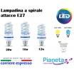 Lampadina led a spirale E27 12w 16w 20w risparmio energetico fredda/calda