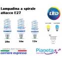 Lampadina led a spirale E27 12 16 20w lampada risparmio energetico basso consumo