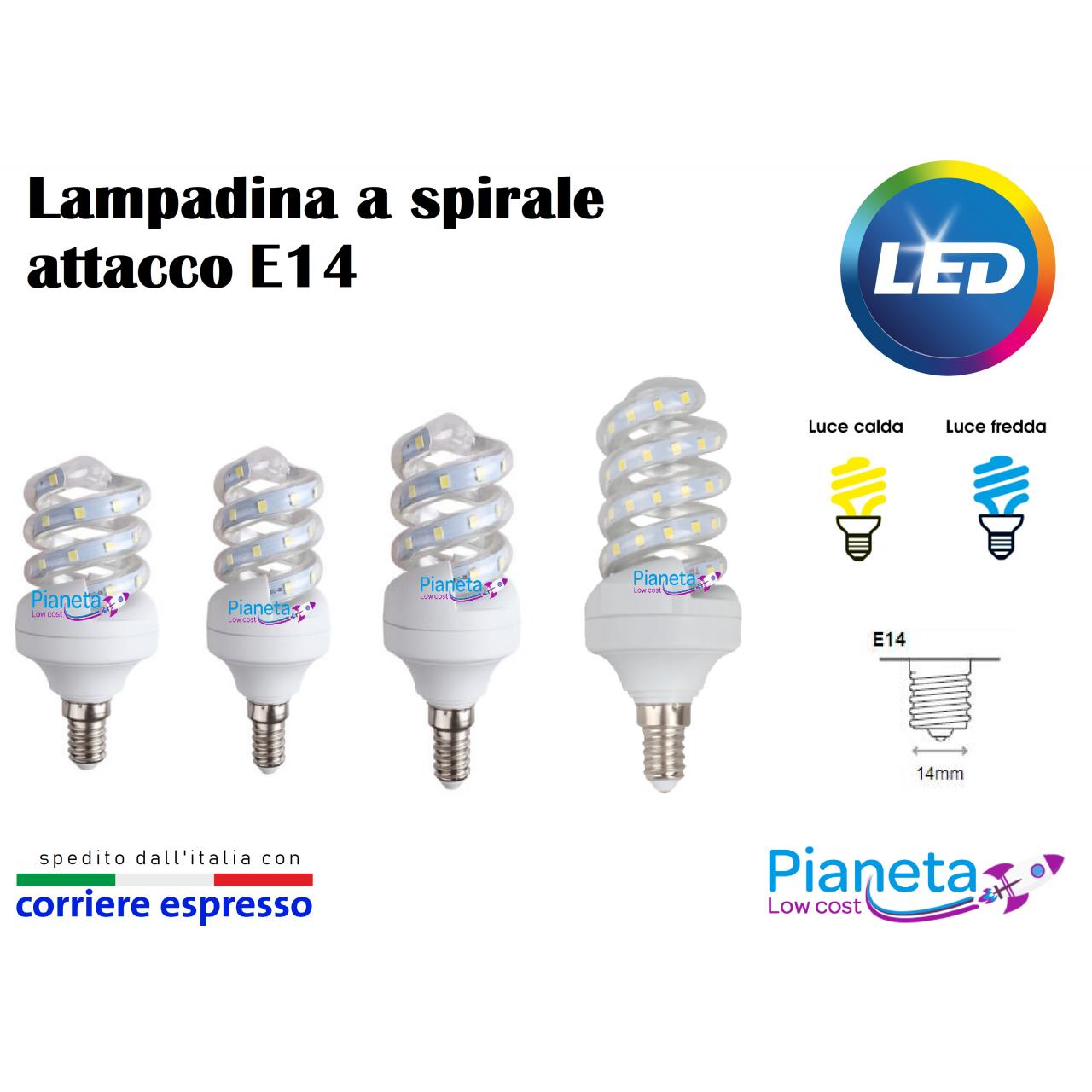 Lampadina led a spirale e14 5 7 9 11w lampada risparmio for Lampada a lampadina