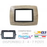 Placche Compatibili BTICINO LIVING INTERNATIONAL moduli 3 4 7posti supporti legno beige