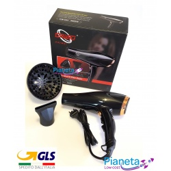 ASCIUGACAPELLI AGLI IONI PHON PROFESSIONALE 2200W HAIR DRYER