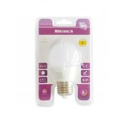 Bulbo globo E27 7w lampadina led calda bianco freddo