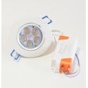 Faro faretto led da incasso bianco 5w ip20 orientabile rotondo luce naturale 4500k