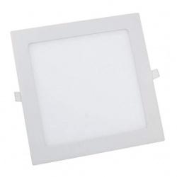 Faro faretto led pannello quadrato bianco slim 18w ip20 da incasso a molla luce bianca fredda 6500k