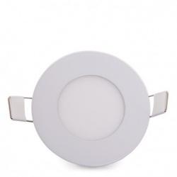 Pannello led rotondo 3w incasso faro faretto bianco luce bianca fredda naturale calda Downlight