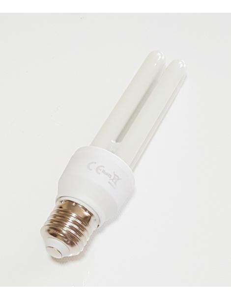 Lampadina led E27 13w 2U tubolare opaca luce calda 3000k naturale 4000k fredda bianca 6500k