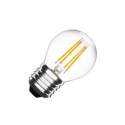 Lampadina led filamento globo 4w bulbo E27 sfera trasparente luce bianca 6500k