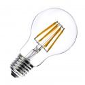 Lampadina filamento led globo E27 6w pallina sfera A60 trasparente luce calda 2700k