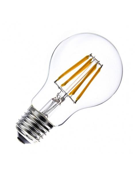 Lampadina filamento led globo E27 8w pallina sfera A60 trasparente luce fredda bianca 6500k