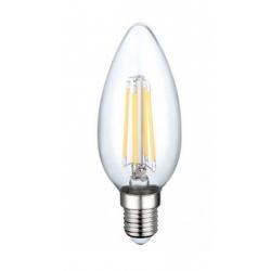 Lampadina led filamento oliva 4w bulbo E14 candela trasparente luce calda bianca