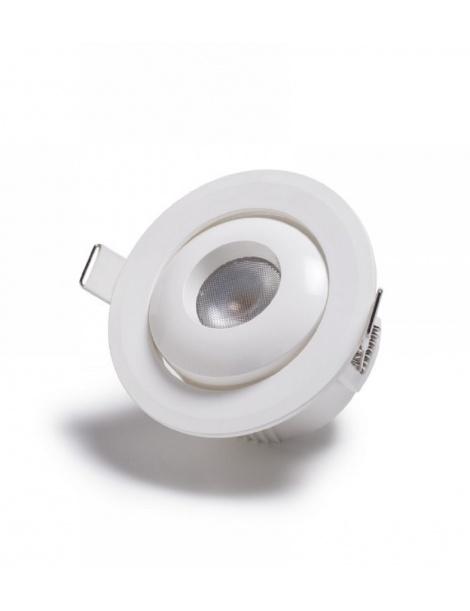 Faretto LED COB 7W punto luce Con Porta Faretto Orientabile incasso soffitto Luce Calda Fredda Naturale Mapam